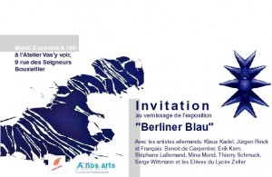 invitation à l'expo Berliner Blau